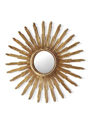 The Mia Apollo Güneş Ayna - 30 Cm Altın